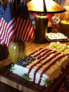 America Flag Cake at The Swag
